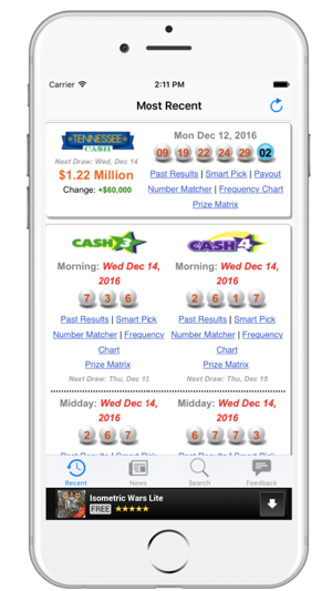 Lottery Results - Tennessee - TN Lotto on the App Store
