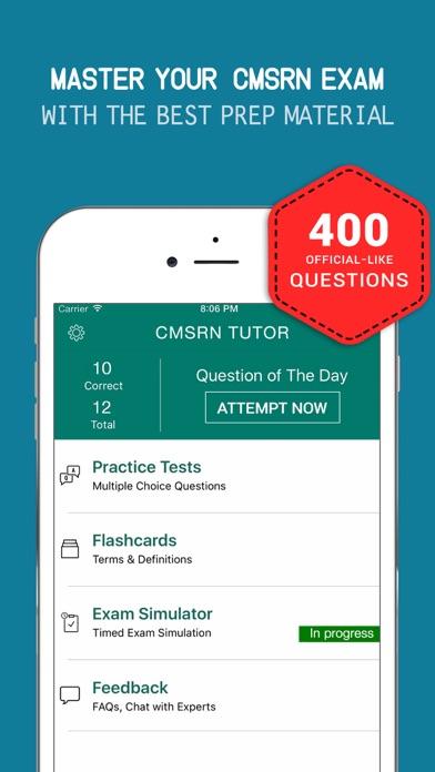 CMSRN® Practice Exam prep 2017 - Q&A Flashcard screenshot one