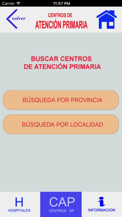 HOSPITALES Y CENTROS DE AP screenshot 4