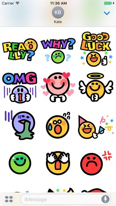 Smiley face Sticker 1のスクリーンショット4