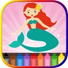 Mermaid Princess Coloring Book For Kids icon