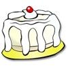 ケーキ 1 つステッカー パック
