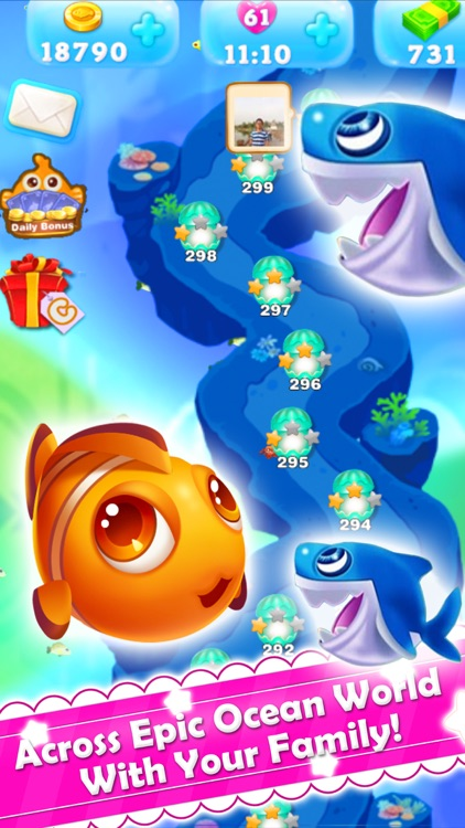 Charm Fish Mania - Match 3 quest in ocean games screenshot-4