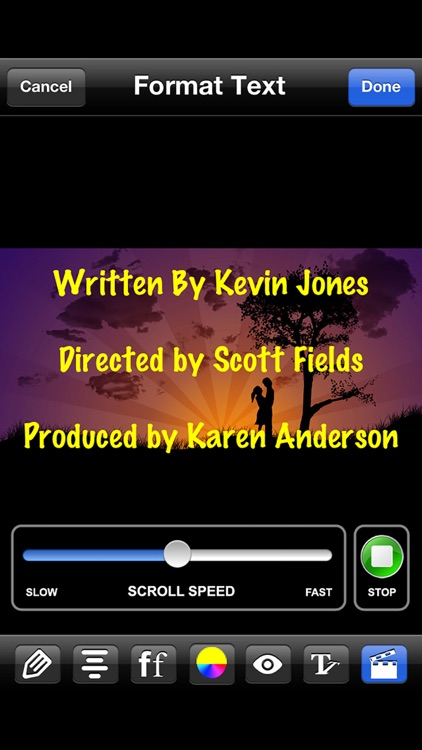 Scrolling Credits - Use with iMovie to Scroll Text screenshot-3