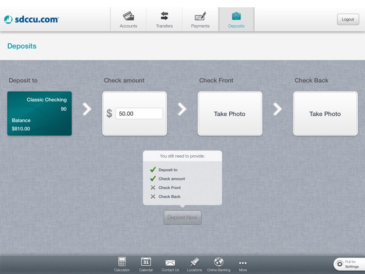SDCCU Mobile Banking for iPad screenshot-4