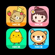 Cute Message Stickers Lab 360 - NICE Sticker