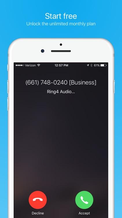 Ring4 - Phone Number, Texts & Calls, Call Recorder screenshot-4