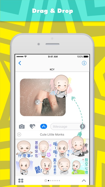 Cute little monks stickers for iMessage