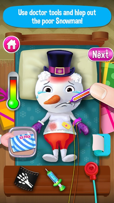 Little Santa Doctor! Snowman ER Christmas Hospital screenshot three