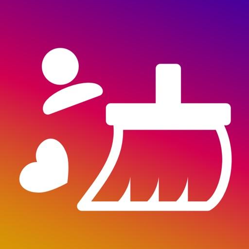 InstaClean for Instagram - Mass unfollow & unlike app logo