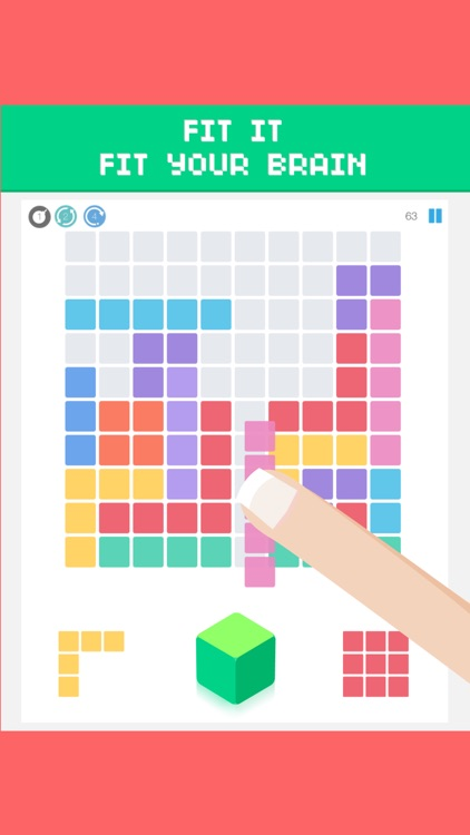 100 jam - 1010 block puzzle Fall In Totally screenshot-3