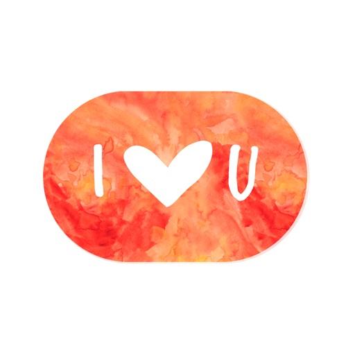 Love sticker - romantic heart stickers pack
