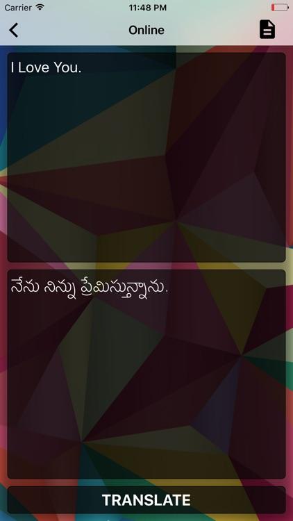English To Telugu Translator Offline and Online screenshot-4