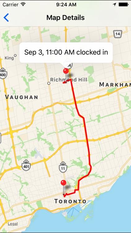 Breeze Clock GPS Time Tracker screenshot-3