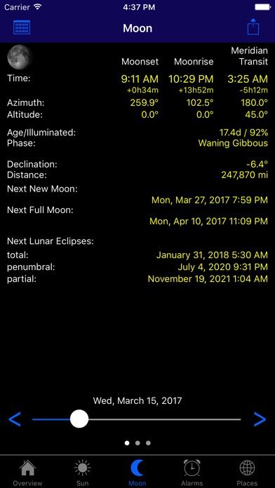 Screenshots for LunaSolCal