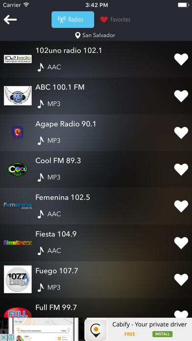 Radios de El Salvador: Emisoras Radio FM AM Screenshot on iOS