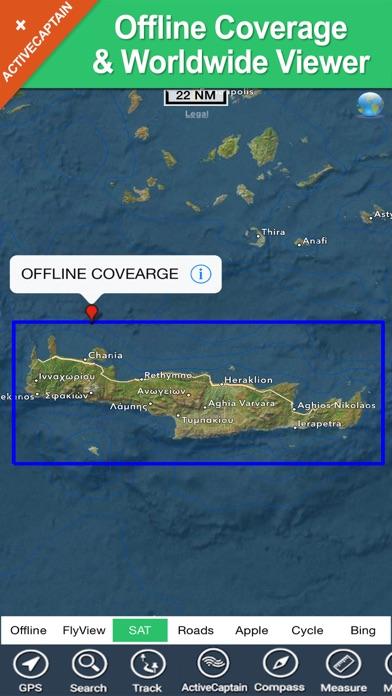 download Crete (Greece) charts GPS offline maps Navigator apps 0