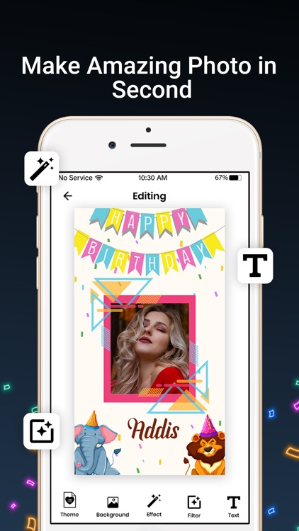 Bday Video Maker, Wishes,Cards screenshot-8