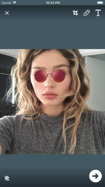 Stylish Glasses & Cap Photos screenshot-6