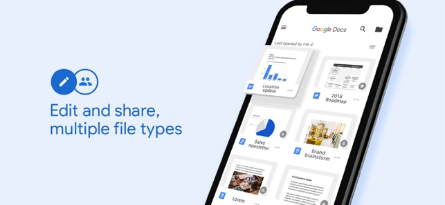 Google Docs: Sync, Edit, Share on the App Store