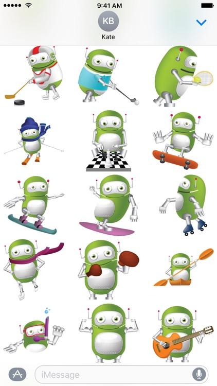 Green Robot Stickers screenshot-4