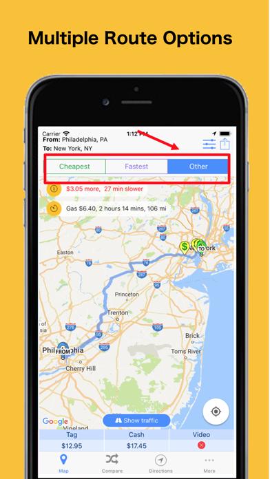 Screenshot for Trip Toll Calculator Tollguru in United States App Store