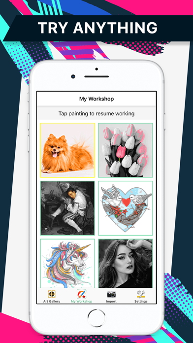 Color by number Pixel Painter Screenshot