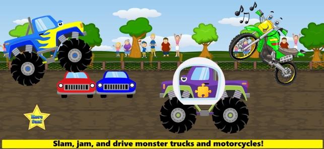 Trucks Fire Truck Monster Trucks Construction Truck Games For Toddler Kids On The App Store