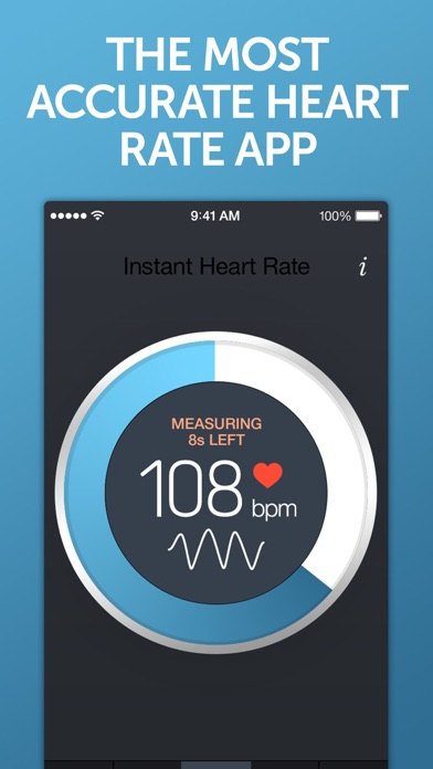 Instant Heart Rate - Heart Rate Monitor by Azumio for Free featuring workout training programs from Fitness Buddy screenshot