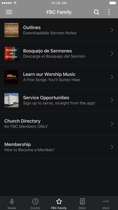 Faith Bible Church App screenshot three