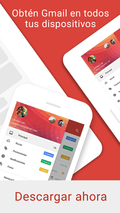 Screenshot for Gmail: El correo de Google in Argentina App Store