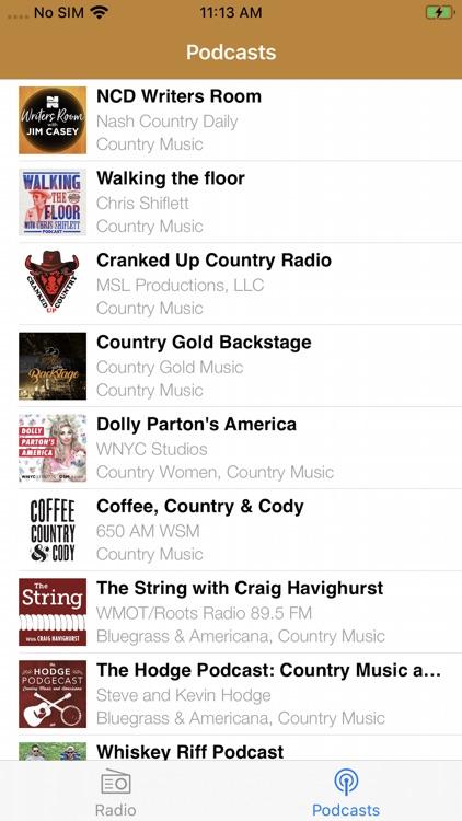 Country Music RADIO screenshot-7