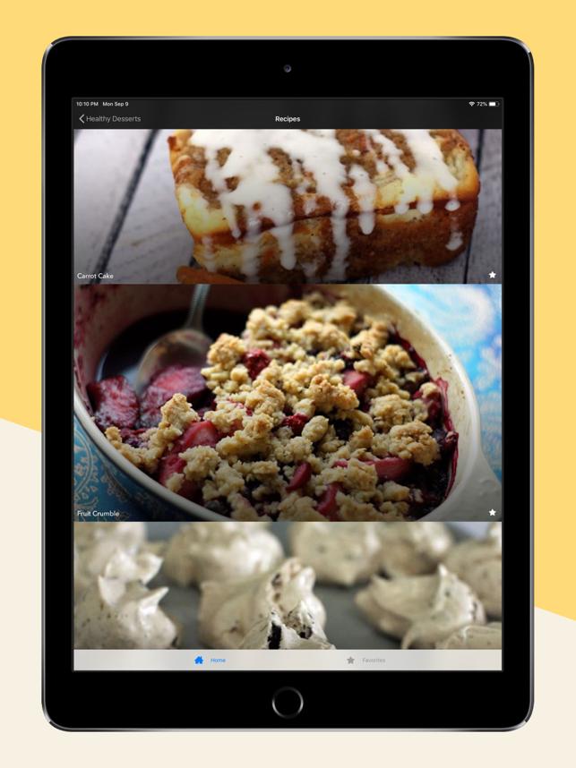 Healthy Dessert Recipes Plan Screenshot