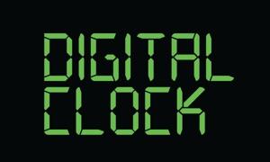 Digital Clock for TV