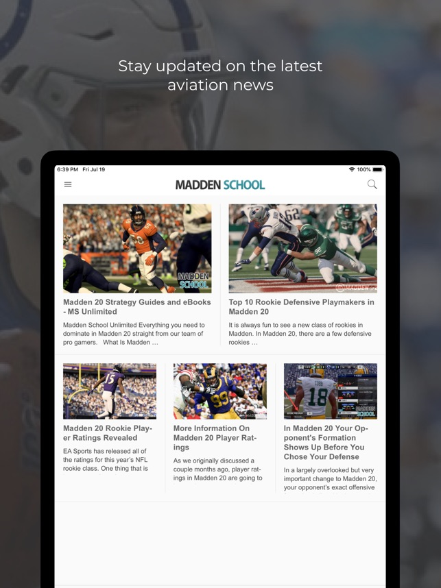 App For Madden School on the App Store