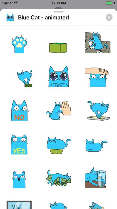 Blue Cat - animated screenshot 1