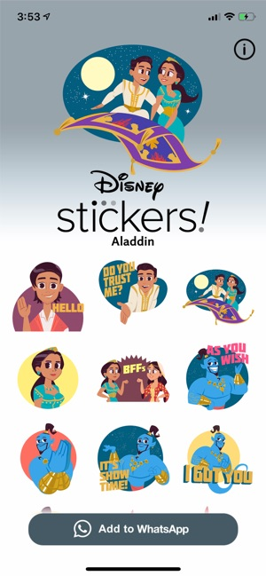 ‎Disney Stickers: Aladdin
