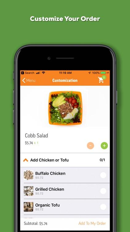 Salad and Go Ordering App screenshot-5