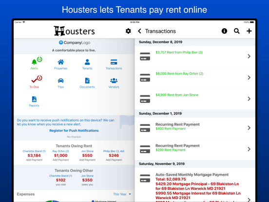 Housters, Property Management for the Next Generation of Landlords screenshot