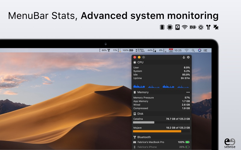 MenuBar Stats Screenshot 1