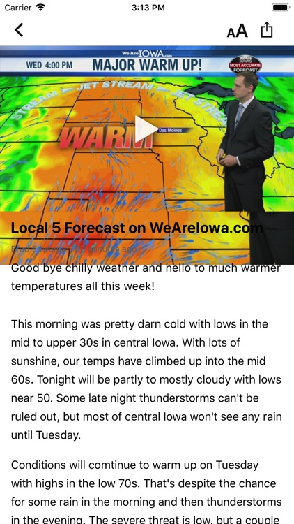 We Are Iowa Weather Local 5 screenshot-4