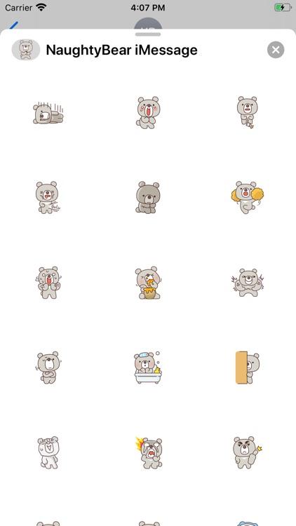 Naughty Bear Stickers screenshot-3