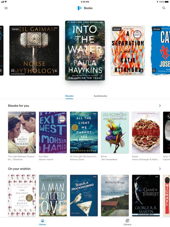 Google Play Books iPad