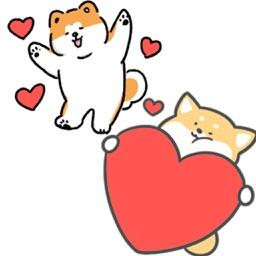 Cute Hachi Dog Akita Stickers