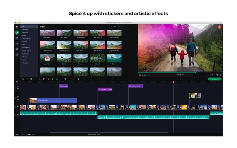 Slideshow Maker Movavi Screenshot