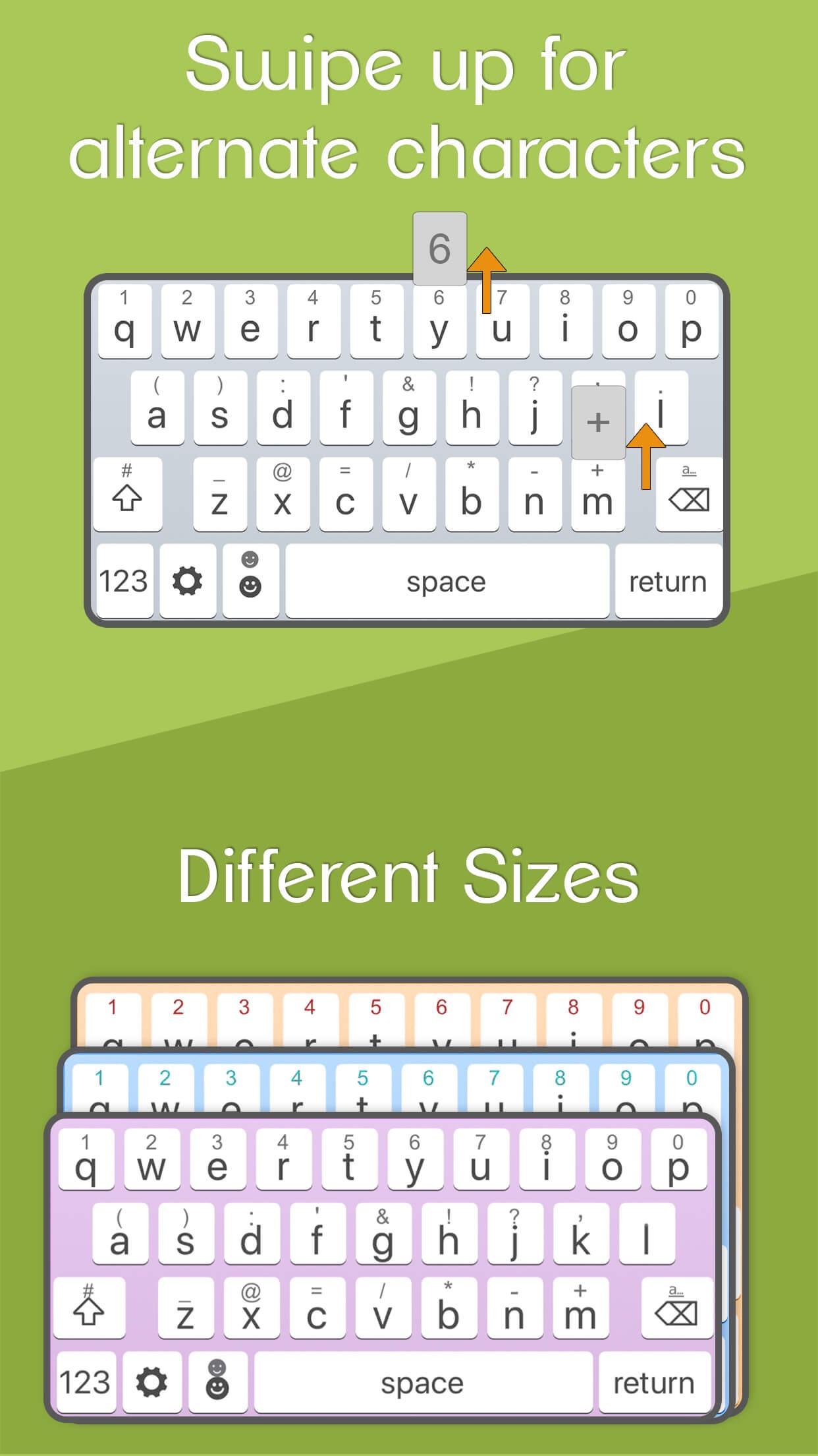 Screenshot do app ReBoard Keyboard: Fonts+Themes