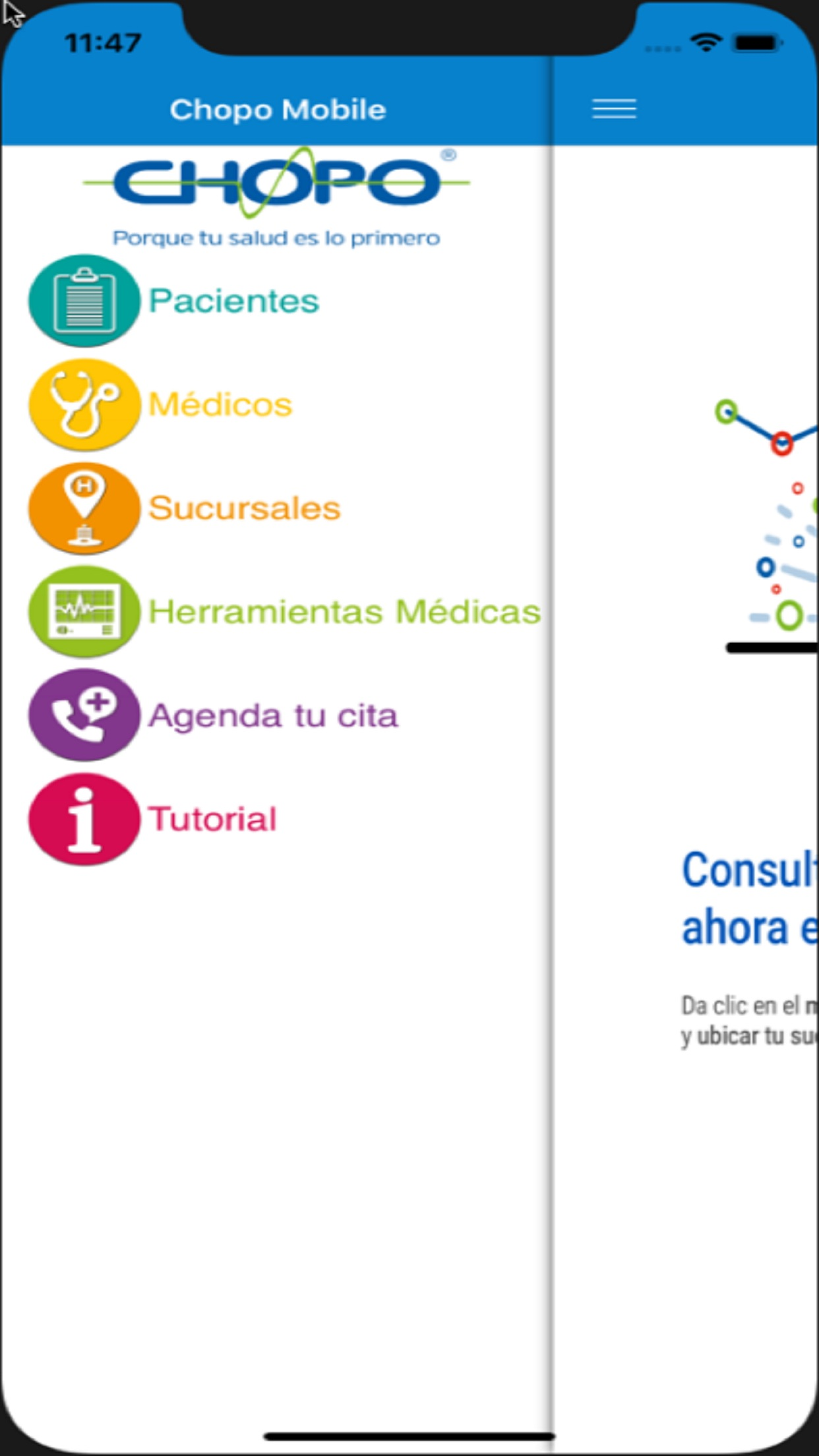 Chopo Mobile Screenshot