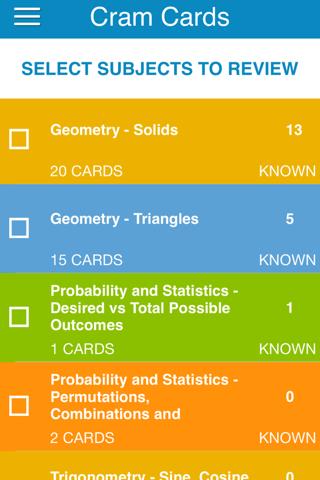 OAT Math Cram Cards - náhled