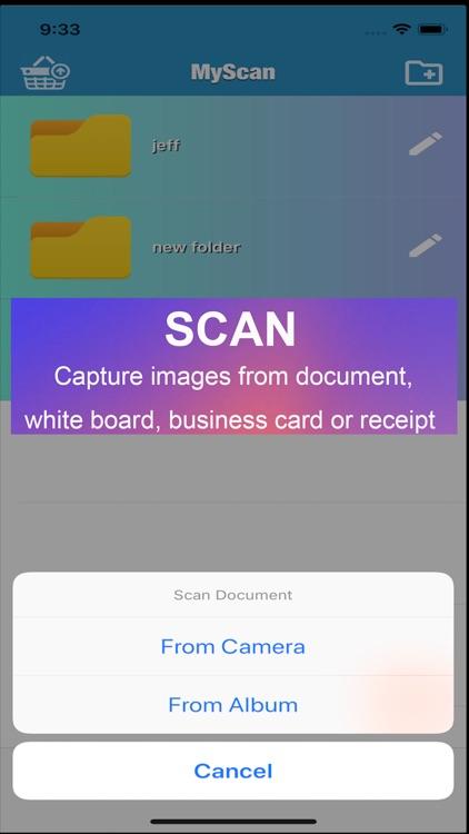 MyScan: capture and share PDF screenshot-0