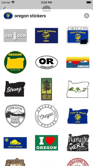 Oregon emojis - USA stickers screenshot 1